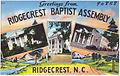 Greetings from Ridgecrest Baptist Assembly, Ridgecrest, N.C. (5812052046).jpg