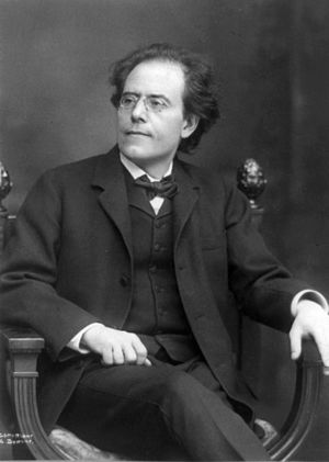Gustav Mahler, 1860-1911; 3/4, seated, facing left