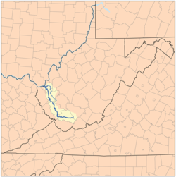 Mud River West Virginia Wikipedia - West virginia rivers map