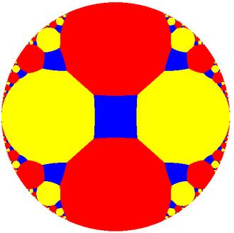 Truncated order-4 apeirogonal tiling - Image: H2 tiling 2iu 7
