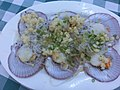 HK 長洲 Cheung Chau 興樂海鮮 Hing Lok Seafoods Restaurant food dish 粉絲蒸元貝 Steam scallop with Cellophane Jelly noodle Sept-2013.JPG