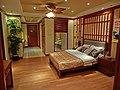 HK Yau Ma Tei 碧桂園 Country Garden 宏利公積金大廈 Manulife MPF Place ShowFlat bedroom view main door Apr-2013.JPG