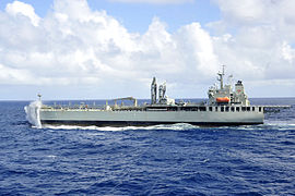 HMAS Sirius steams in the Coral Sea after completing a replenishment in July 2013.jpg