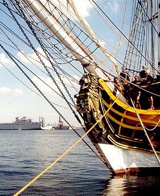 HMS Rose (1757) - Replica HMS Rose figurehead in 2000