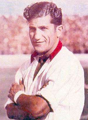 Herminio Masantonio - Masantonio during his time as a Huracán player