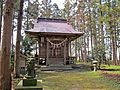 Haiden of Ukisu-jinja shrine in Kami town..JPG