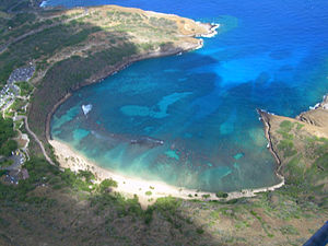 Hanauma Bay - Aerial view of Hanauma Bay