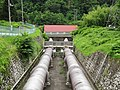 Haneo hydroelectric power station and penstock.jpg