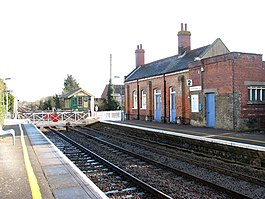 Harling Road station - the old station building and signal box - geograph.org.uk - 1702923.jpg