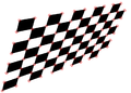 Harris corners detected on chessboard.png