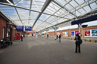 Hartlepool railway station Railway station in County Durham, England