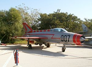 Mossad - MiG-21 at the Israeli Air Force Museum in Hatzerim