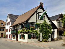 """Das """"Hebelhuus"""", das Heimathaus von Johann Peter Hebel in Hausen (Quelle: Wikimedia)"""