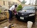 Headlight restoring in Lokogoma, Abuja.jpg