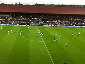Tynecastle Park - The Archibald Leitch designed Main Stand, demolished in 2017