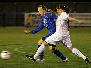 Leeds United L.F.C. - Leeds's Rachel Stowell (right) in 2006 against Birmingham
