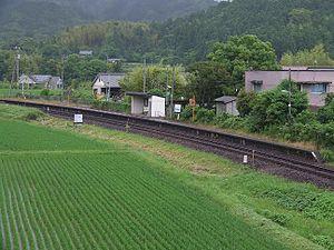 Hegawa Station - Hegawa station platform (2008)