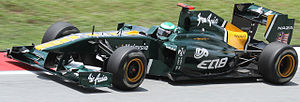 Team Lotus (2010–11) - Kovalainen at the 2011 Malaysian Grand Prix.