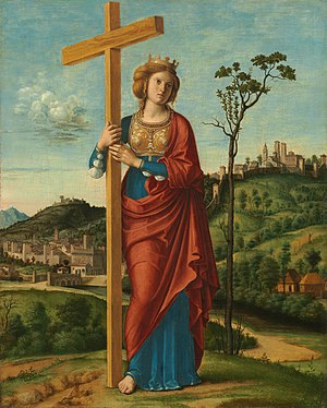 Gardens of Vatican City - Empress Saint Helena of Constantinople carrying the One True Cross laying the grounds for the gardens using the sacred soil from Mount Calvary.
