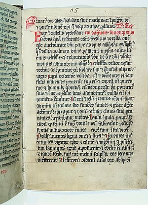 Livonian Chronicle of Henry - A page from a copy of the Henry of Latvia manuscript
