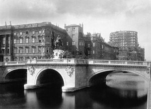 Rathaus Bridge - Kurfürstenbrücke and Berlin City Palace in 1896