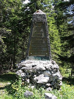 Hermann von Barth - Hermann von Barth Monument in Kleiner Ahornboden, Karwendel