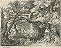 Hertenjacht bij een bosmeer Rijksmuseum Amsterdam RP-P-OB-5188.jpg