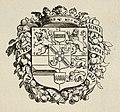 Het familie wapen van het Huis van Oranje - Nassau, gedekt door een kroon, omgeven door een floraal festoen met oranjeappels. Door de festoen gevlochten de Engelse orde van de kousenband met, NL-HlmNHA 1477 53010257.JPG