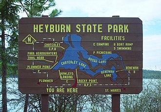 Benewah County, Idaho - Image: Heyburn sign