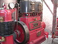 High-speed vertical enclosed crankcase compound steam engine, Bolton museum.jpg