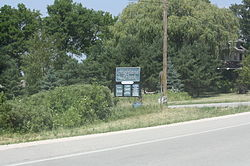 Sign for Highland Park