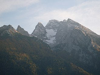 Hochkalter - View of the Hochkalter and Blaueis, from the north