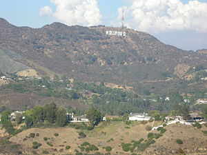Hausberg - Mount Lee, Hollywood, one of the best known Hausberge in the world thanks to its Hollywood Sign
