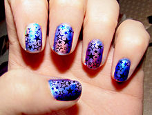 Nail art wikipedia hologram nail art prinsesfo Choice Image