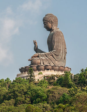 Buddhism in Hong Kong - The Big Buddha, on Lantau Island.