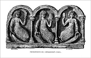 Coventina - Bas-relief of triple Coventina