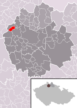 The location of Horní Police within the Czech Republic