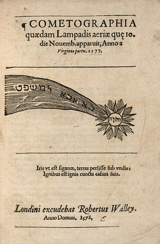 Great Comet of 1577 - Cometographia, a book on the Great Comet of 1577, by Laurence Johnson