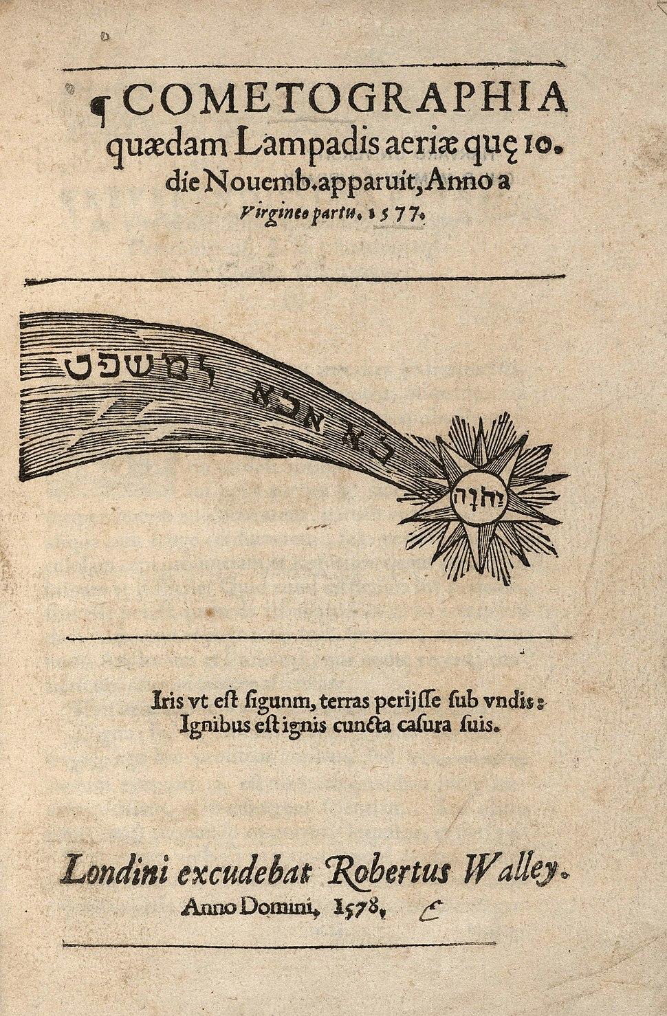 Houghton STC 1416 - Cometographia, 1578