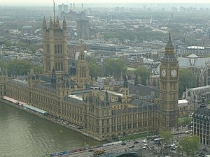 English: House of Parliament from the London Eye