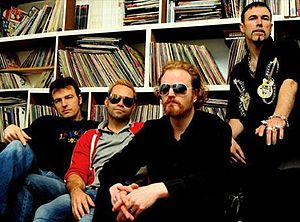 Howard Gray - Howard Gray (second from right) with Apollo 440 in their London studio, 2009