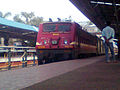 Howrah based WAP 4 locomotive with Shalimar Chennai AC Express at Visakhapatnam.jpg