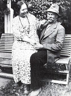 Mona Geijer-Falkner med Hugo Jacobson i Følsome Svensson på Vanadilundens friluftsteater 1936