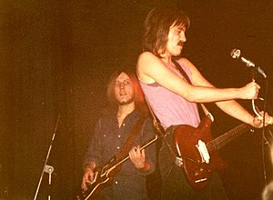Humble Pie (band) - Clem Clempson (rear left) and Marriott in a 1972 performance with Humble Pie