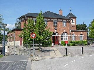 railway station in Fredensborg Municipality, Denmark