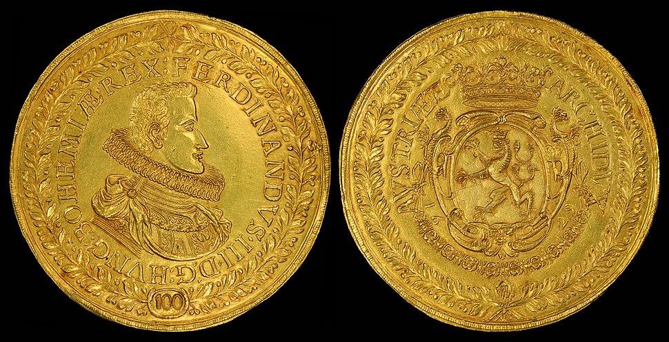 Hungary 1629 100 Ducats