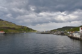 Hurtigruten coming into port at Havoysund, northen Norway (11).jpg