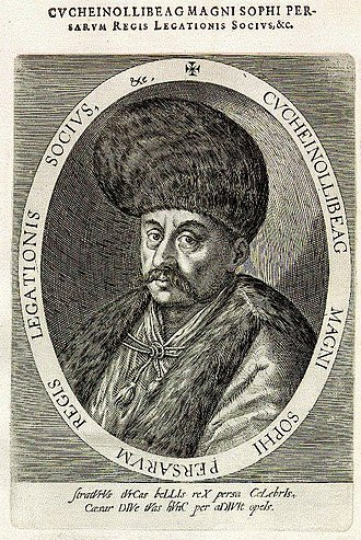 Tahmasp I - The Persian ambassador Husain Ali Beg during the Persian embassy to Europe (1599–1602).