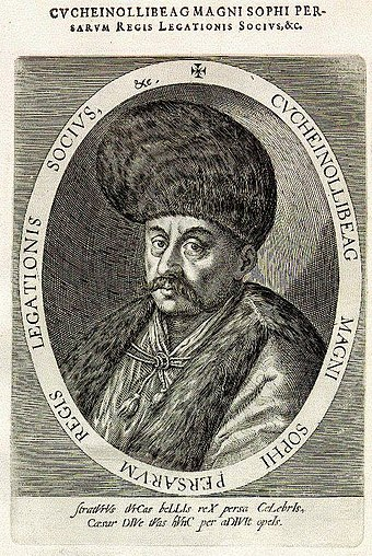 The ambassador Husain Ali Beg led the first Persian embassy to Europe (1599-1602). Husain Ali Beg.jpg