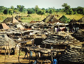 Wau, South Sudan - Huts outside Wau, 2008